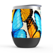 Butterfly Stemless Tumbler: Insulated Wine Tumbler - TumblerMountainGoods