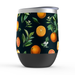 Citrus Orange Stemless Tumbler: Insulated Wine Tumbler - TumblerMountainGoods