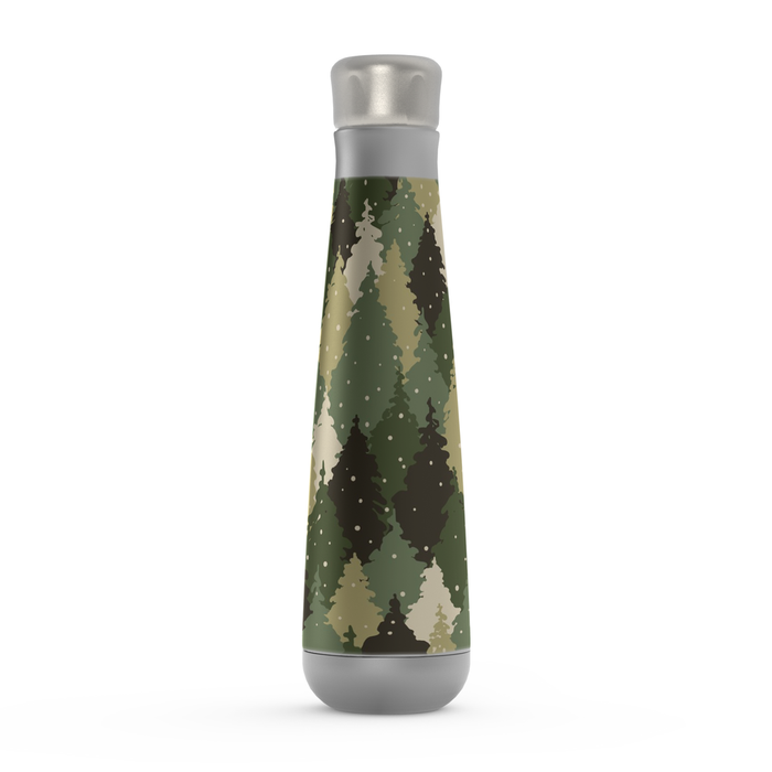 Camo Forest Green Peristyle Bottle: Insulated Water Bottle - TumblerMountainGoods