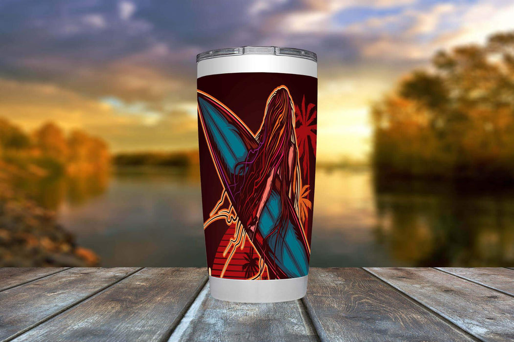 Surfer Girl 20oz Viking Tumbler - TumblerMountainGoods