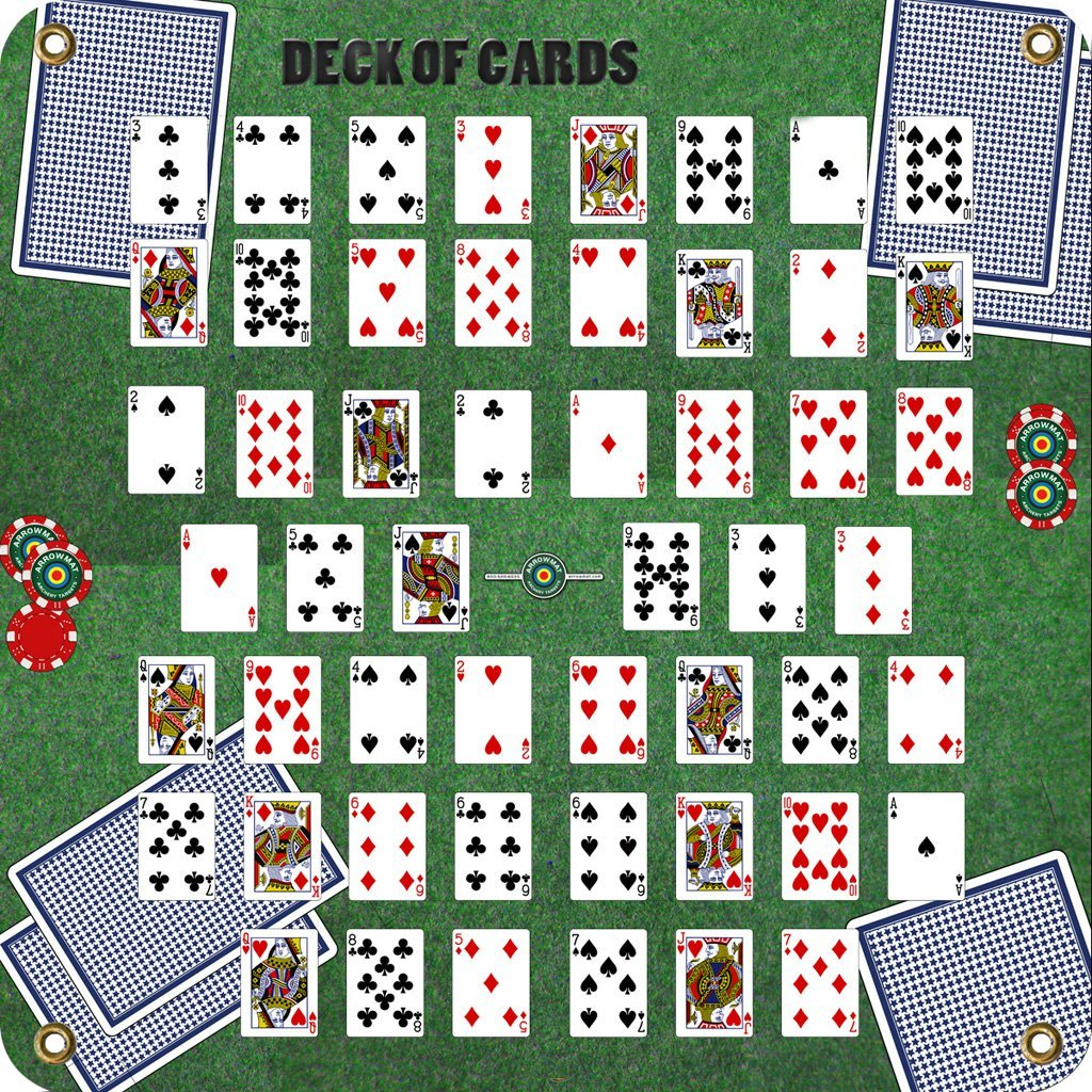 Arrowmat Foam Target Face Deck Of Cards 34x34 In. Archery Arrowmat