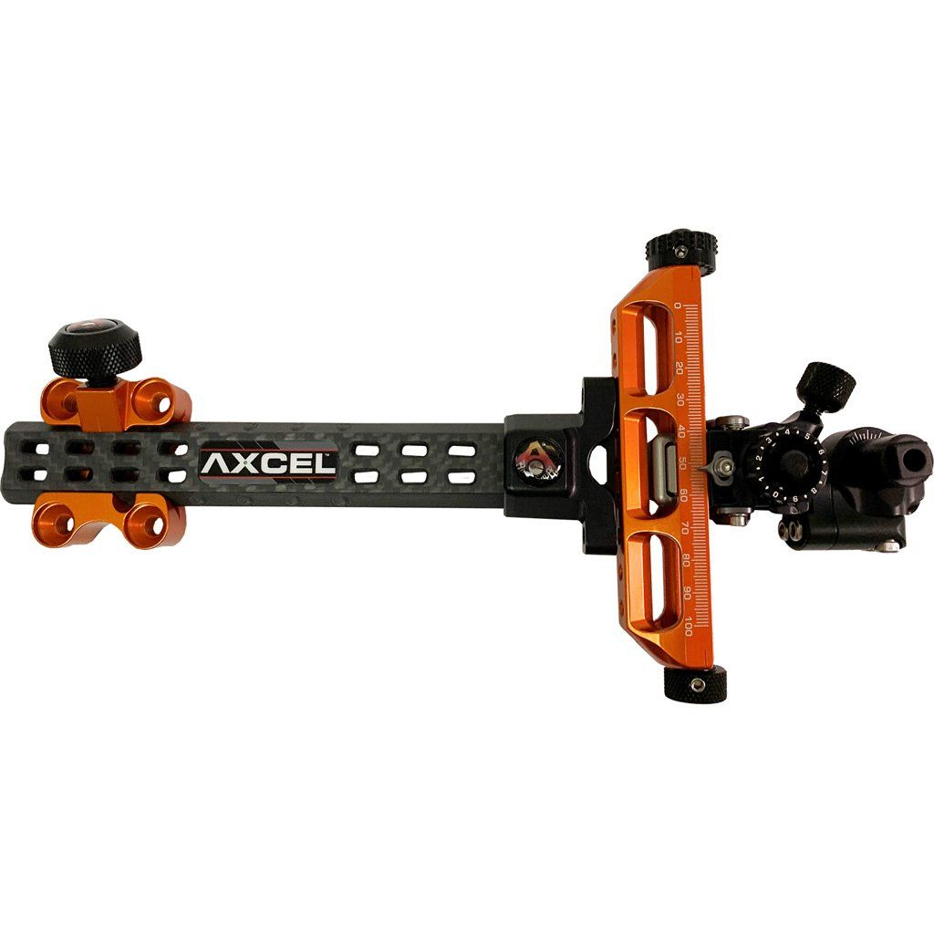 Axcel Achieve Compound X Sight Orange/ Black 6 In. Rh - Target Sights and Accessories
