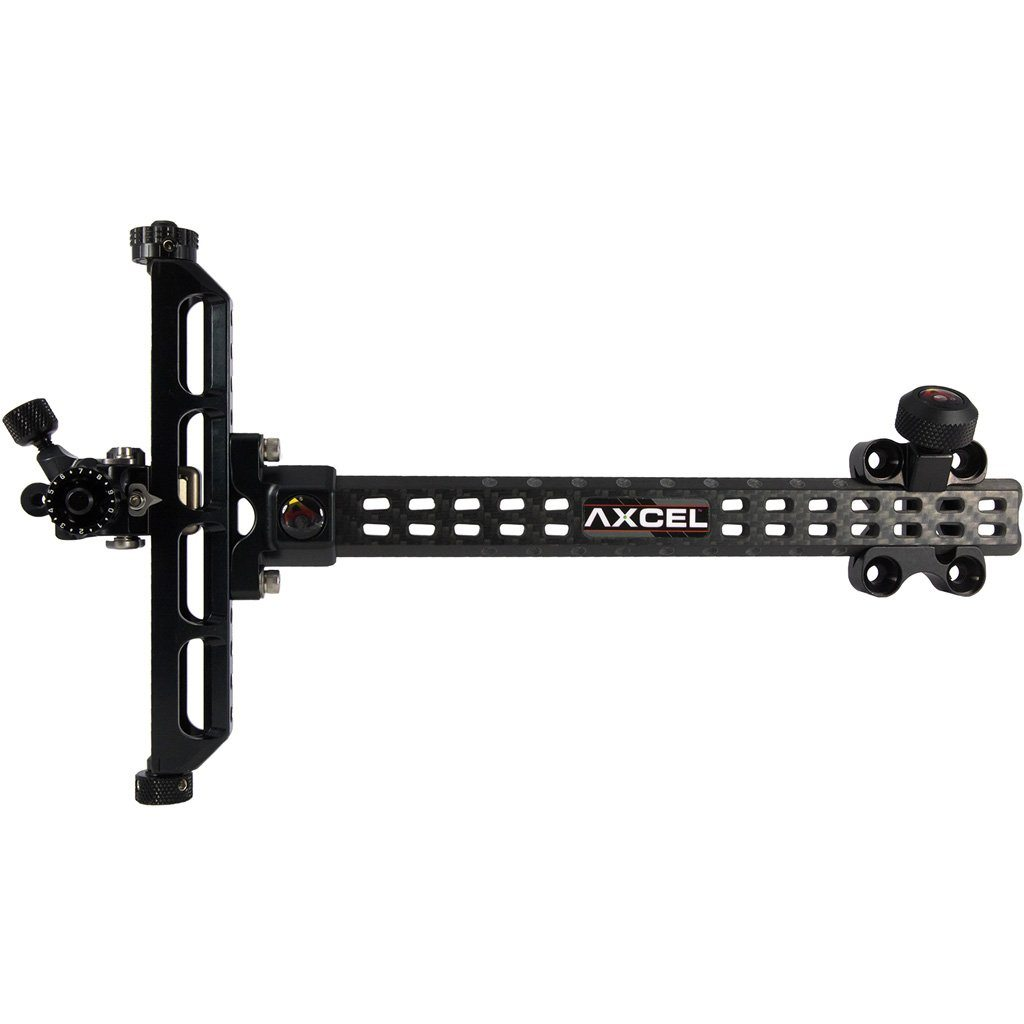 Axcel Achieve Recurve X Sight Black 9 In. Left Hand - 10xArchery