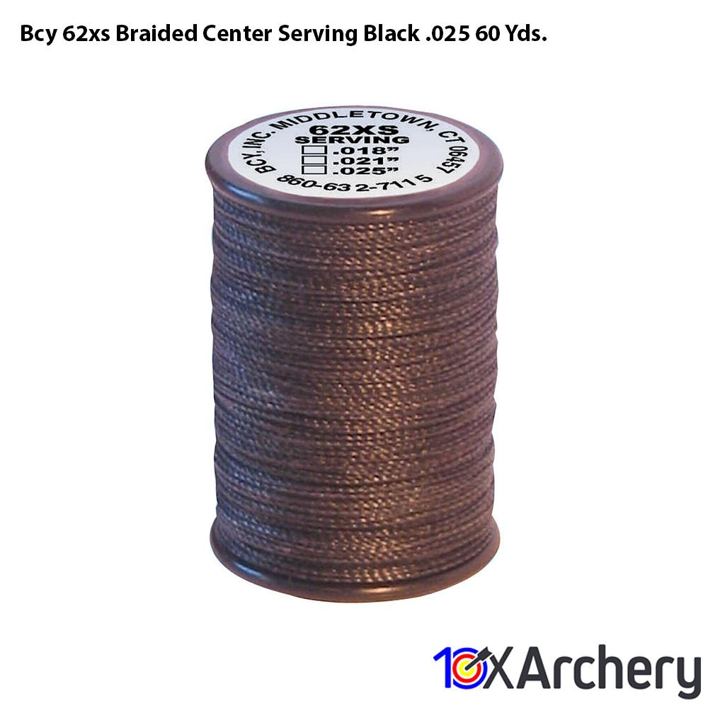 Bcy 62xs Braided Center Serving Black .025 60 Yds. - 10xArchery