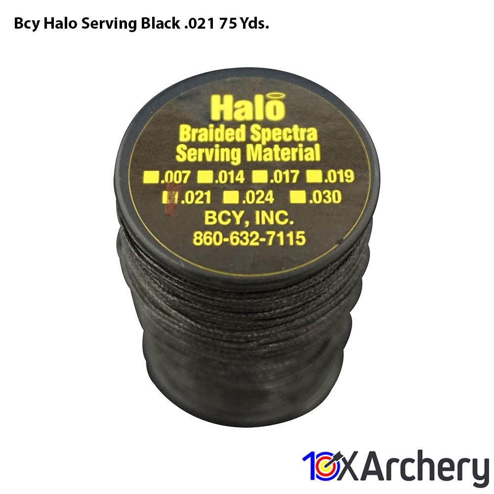 Bcy Halo Serving Black .021 75 Yds. - 10xArchery