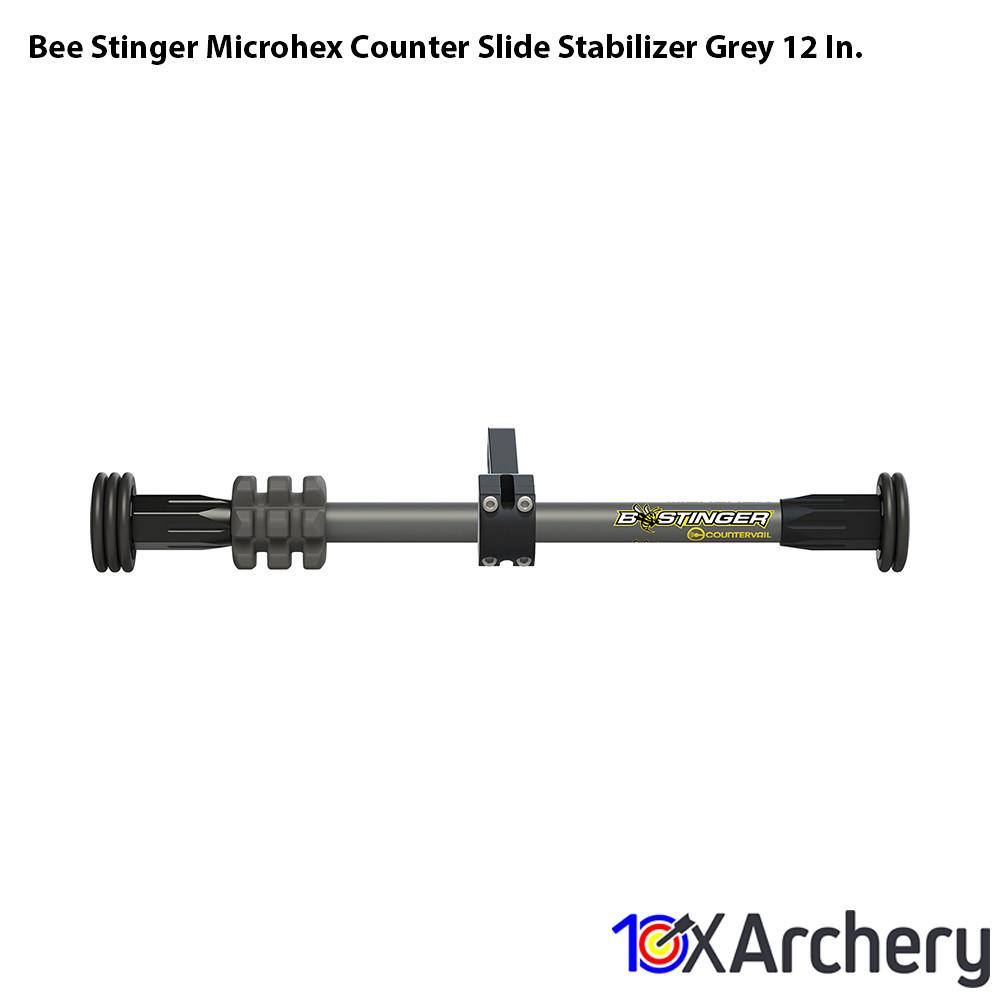 Bee Stinger Microhex Counter Slide Stabilizer Grey 12 In. - Archery