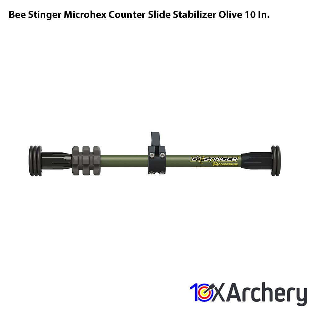 Bee Stinger Microhex Counter Slide Stabilizer Olive 10 In. - Archery