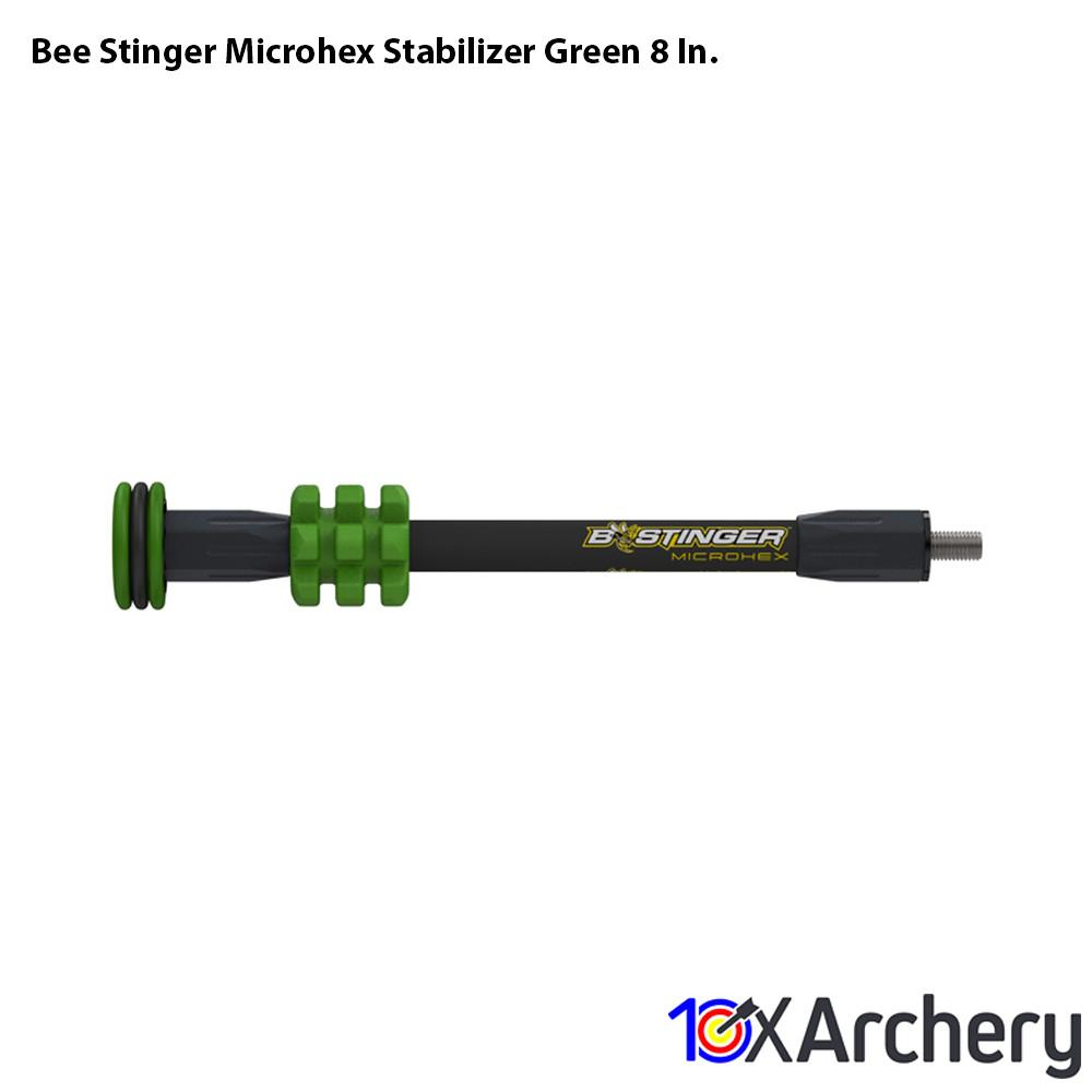 Bee Stinger Microhex Stabilizer Green 8 In. - Archery