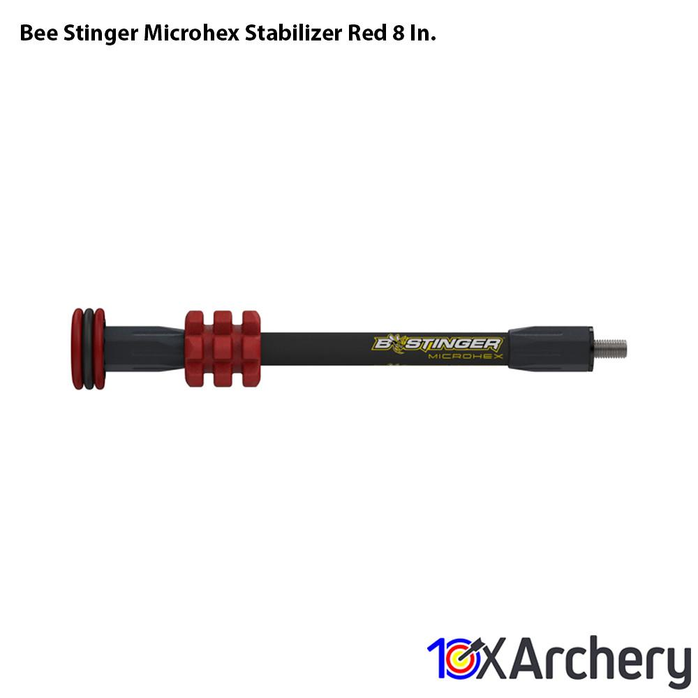 Bee Stinger Microhex Stabilizer Red 8 In. Archery Bee Stinger