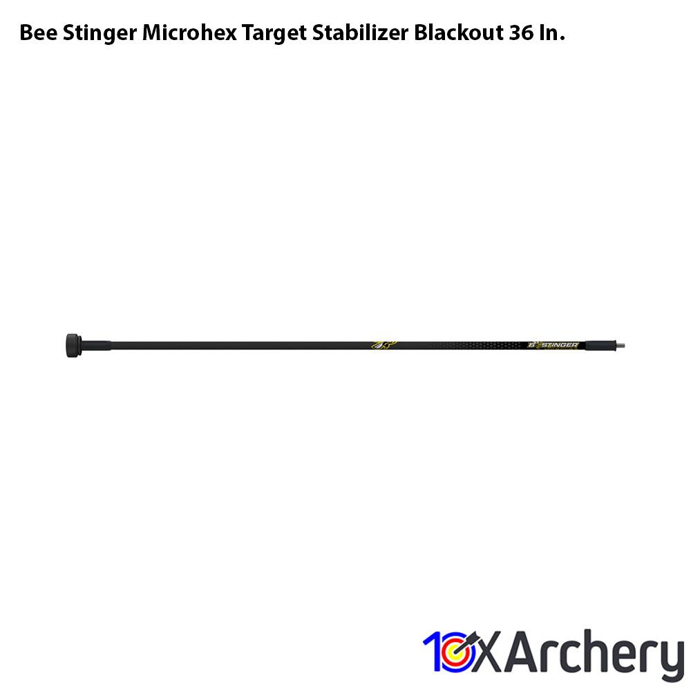 Bee Stinger Microhex Target Stabilizer Blackout 36 In. - Archery