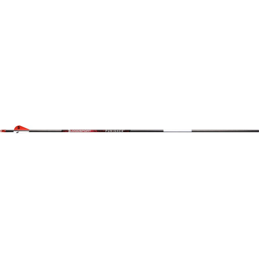 Bloodsport Punisher Arrows 300 2 In. Vanes 6 Pk. - Fletched Arrows
