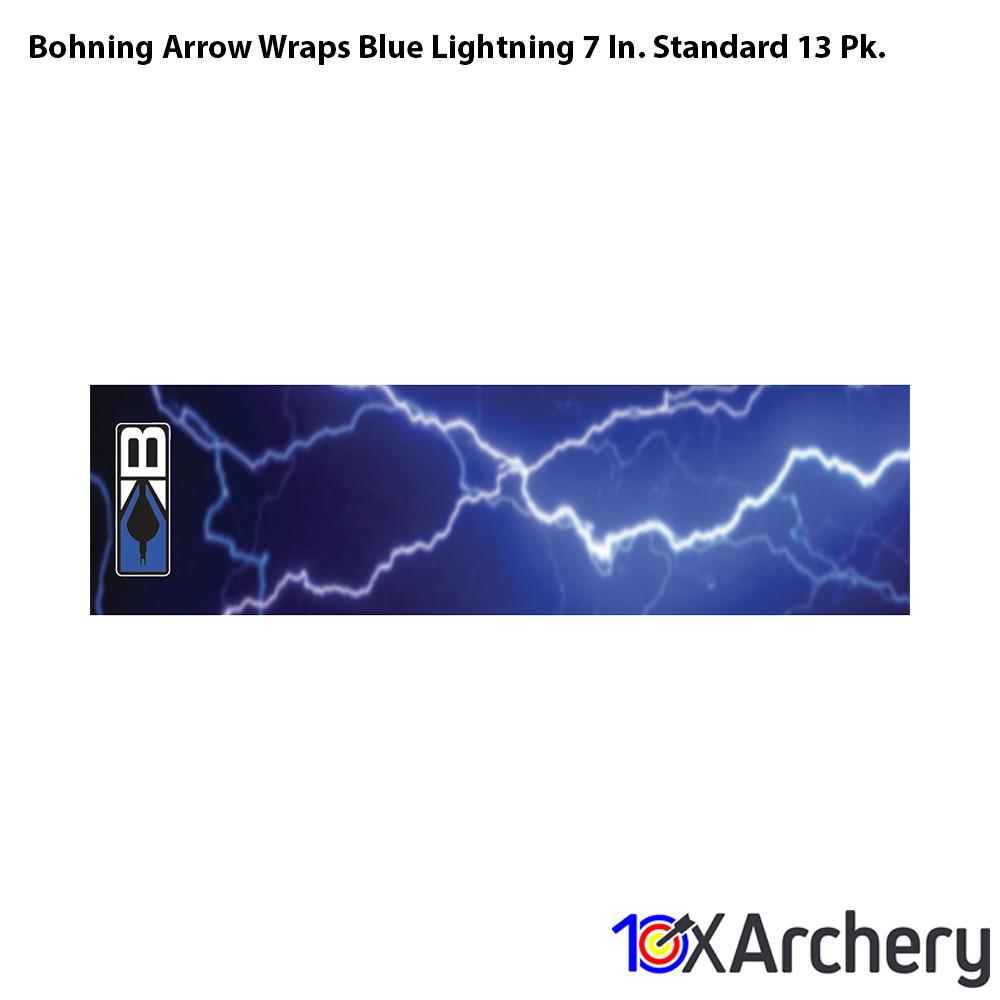 Bohning Arrow Wraps Blue Lightning 7 In. Standard 13 Pk. - Wraps and Lacquers