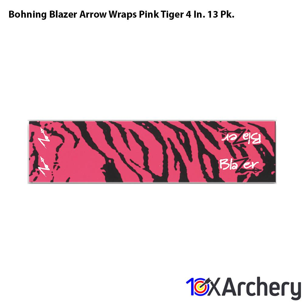 Bohning Blazer Arrow Wraps Pink Tiger 4 In. 13 Pk. - 10xArchery