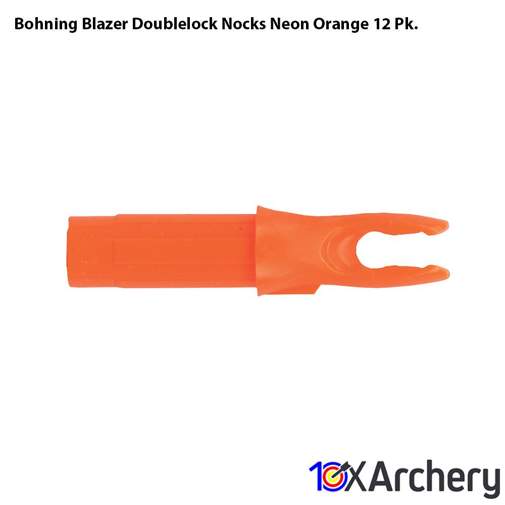 Bohning Blazer Doublelock Nocks Neon Orange 12 Pk. Archery Bohning