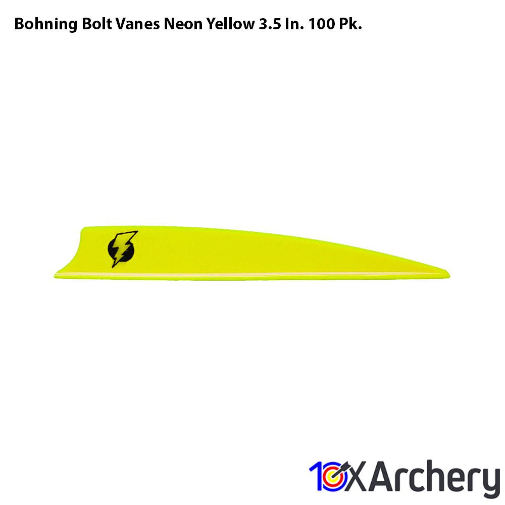 Bohning Bolt Vanes Neon Yellow 3.5 In. 100 Pk. - Archery