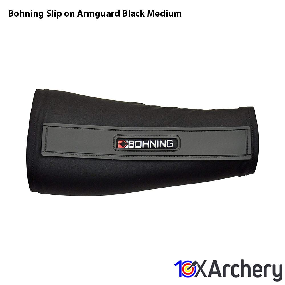 Bohning Slip-on Armguard Black Medium - 10xArchery