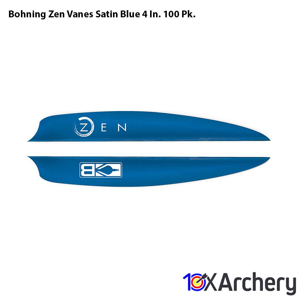 Bohning Zen Vanes Satin Blue 4 In. 100 Pk. - 10xArchery