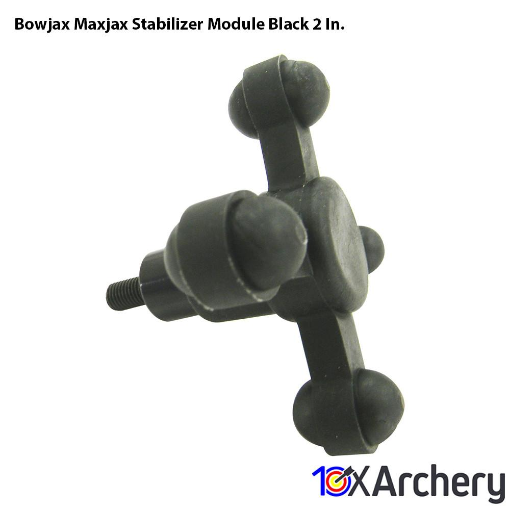 Bowjax Maxjax Stabilizer Module Black 2 In. - Archery