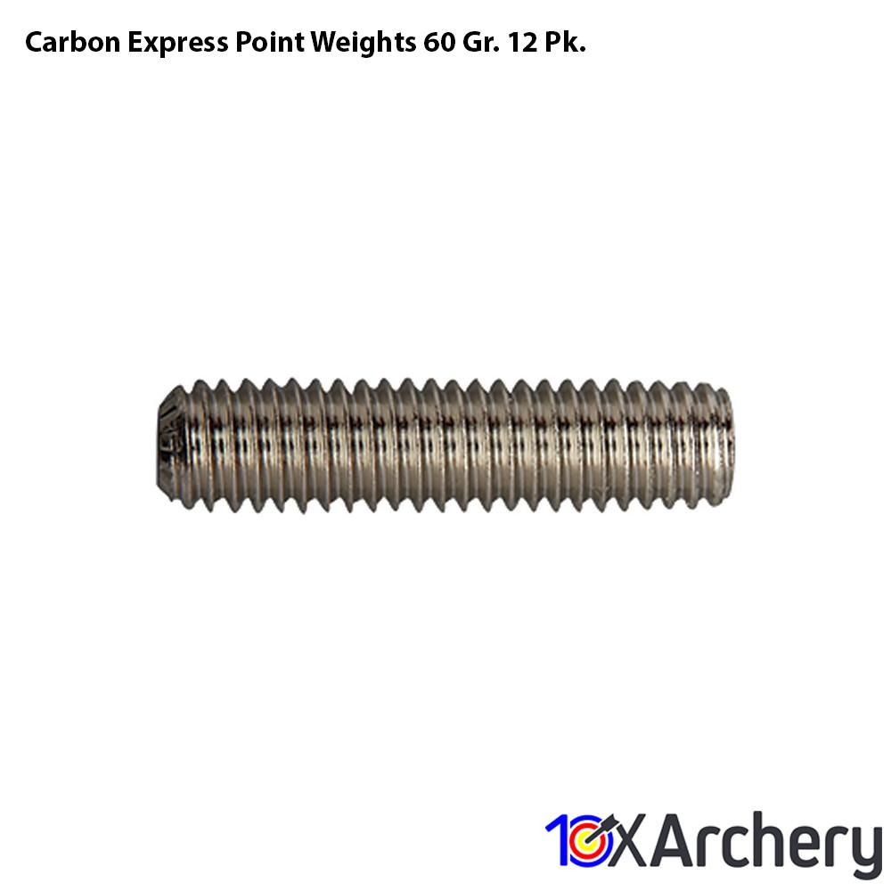 Carbon Express Point Weights 60 Gr. 12 Pk. - 10xArchery