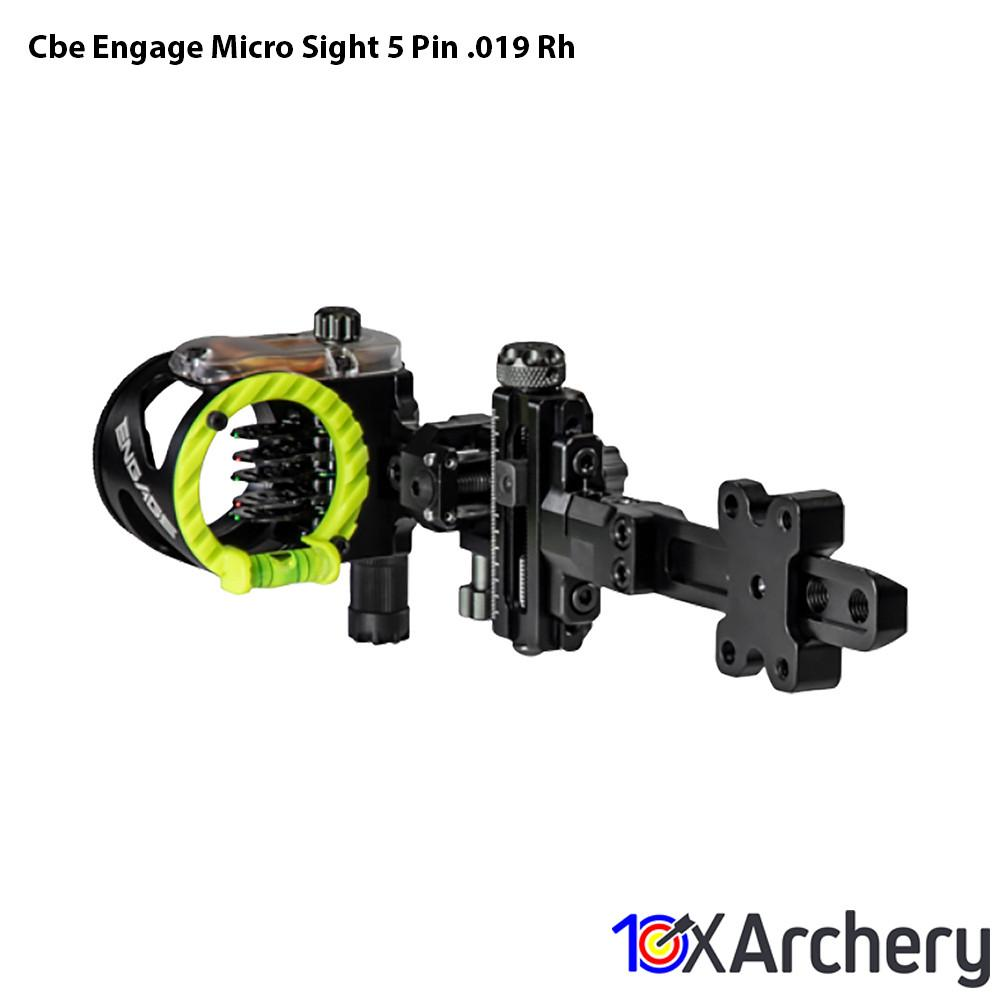 Cbe Engage Micro Sight 5 Pin .019 Rh - Hunting Sights