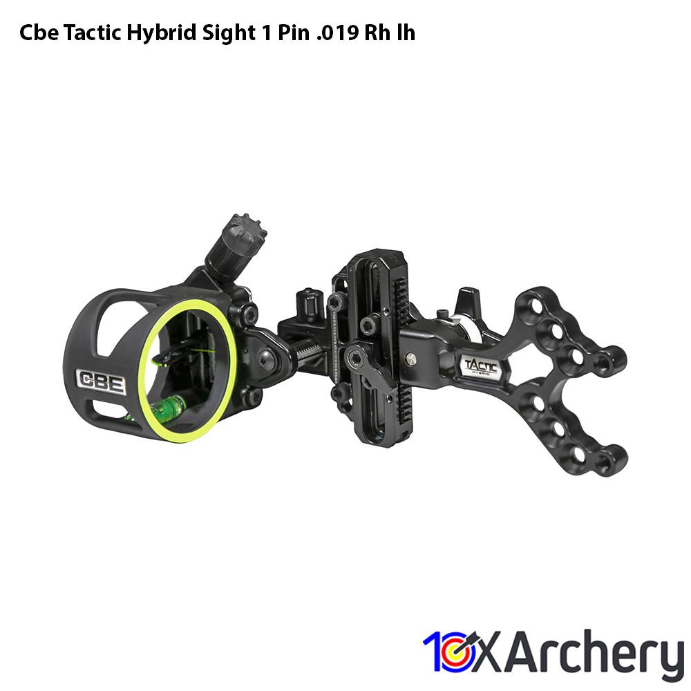 Cbe Tactic Hybrid Sight 1 Pin .019 Rh/lh - 10xArchery