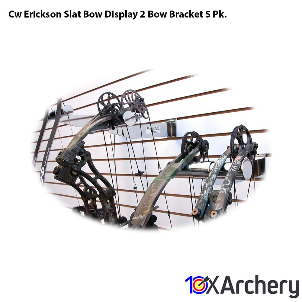 Cw Erickson Slat Bow Display 2 Bow Bracket 5 Pk. - Bow and Crossbow Displays