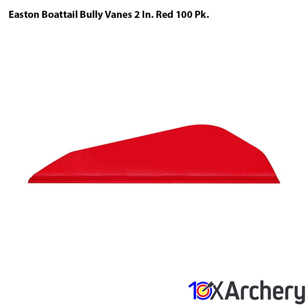 Easton Boattail Bully Vanes 2 In. Red 100 Pk. - Archery