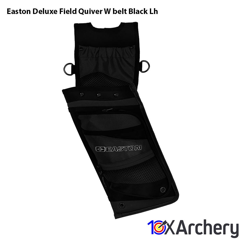 Easton Deluxe Field Quiver W/belt Black Lh - Archery