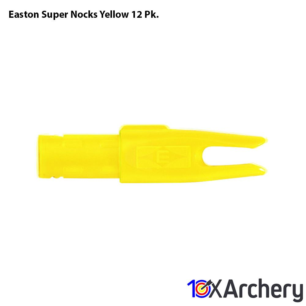 Easton Super Nocks Yellow 12 Pk. - Archery