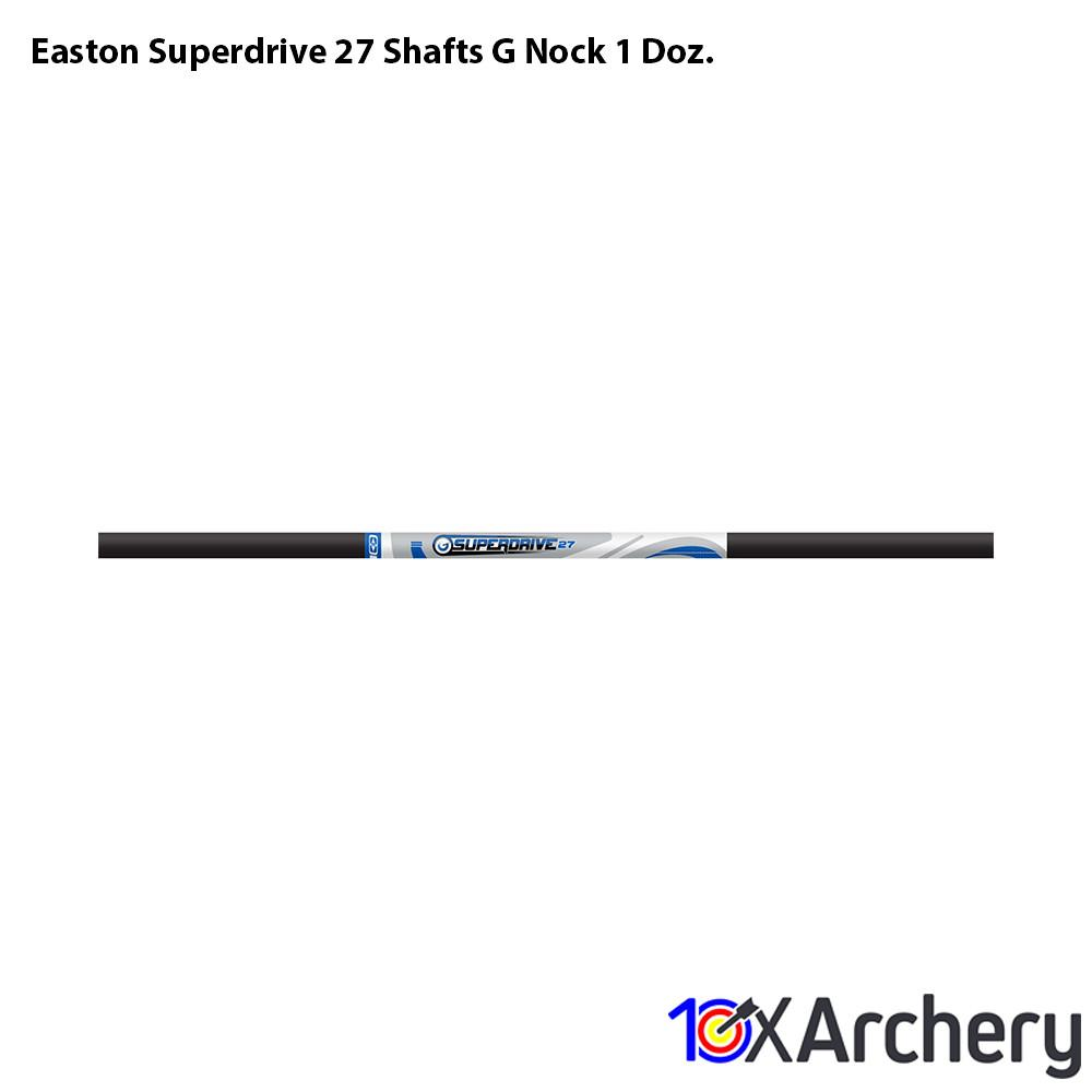 Easton Superdrive 27 Shafts G Nock 1 Doz. - 10xArchery