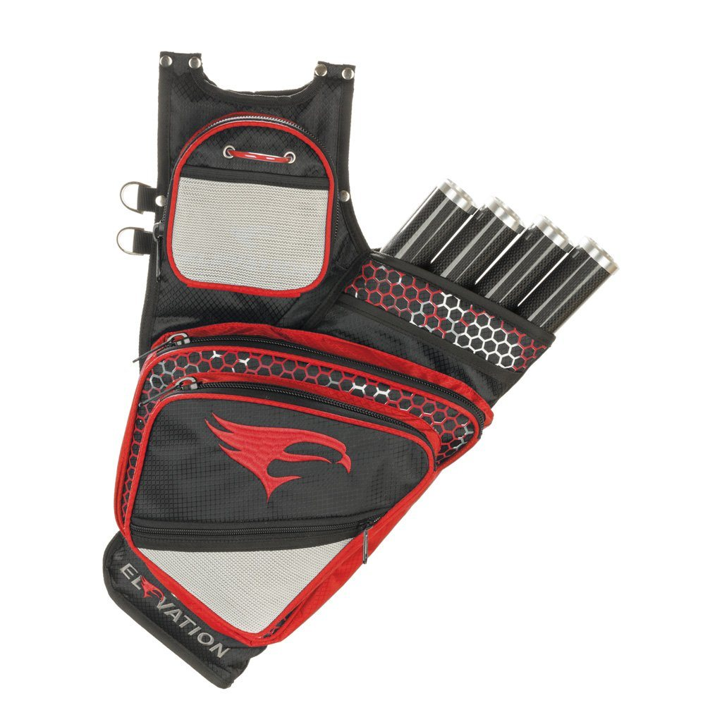 Elevation Adrenalin Quiver Black/red Rh - Archery