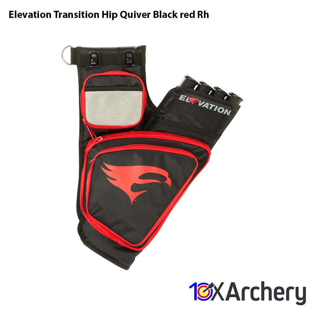Elevation Transition Hip Quiver Black/red Rh - Archery