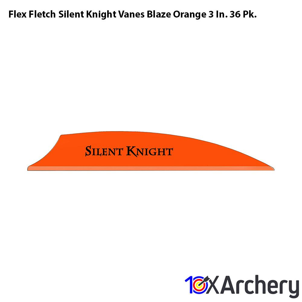 Flex Fletch Silent Knight Vanes Blaze Orange 3 In. 36 Pk. - 10xArchery