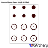 Gunstar Mongo Target Reticle Set Black - 10xArchery