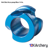 Hot Shot Accu-peep Blue 1/4 In. - 10xArchery