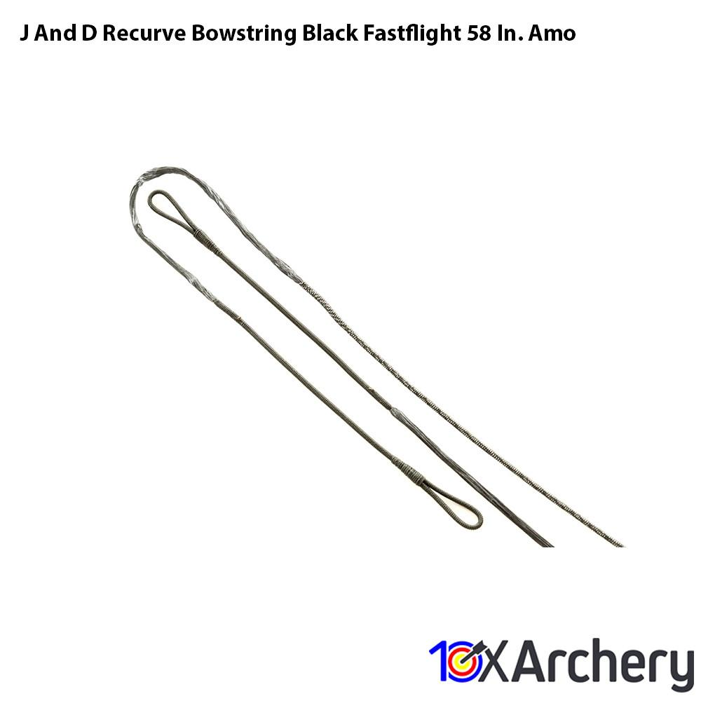 J And D Recurve Bowstring Black Fastflight 58 In. Amo - Traditional Bow Strings