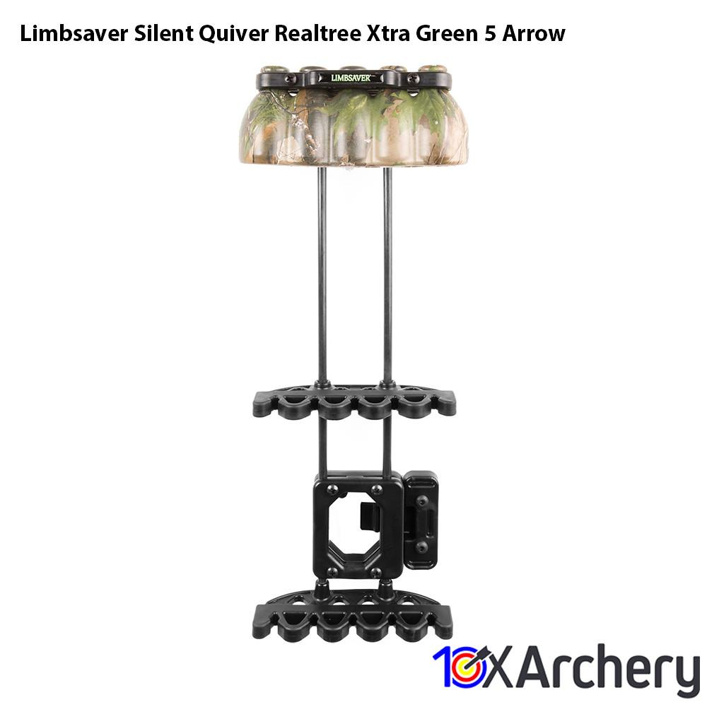 Limbsaver Silent Quiver Realtree Xtra Green 5 Arrow - 10xArchery