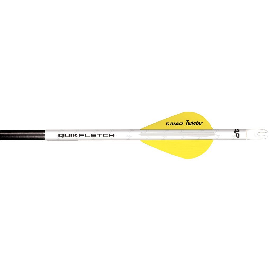 Nap Quikfletch W/twister Vanes White/yellow 6 Pk. - 10xArchery