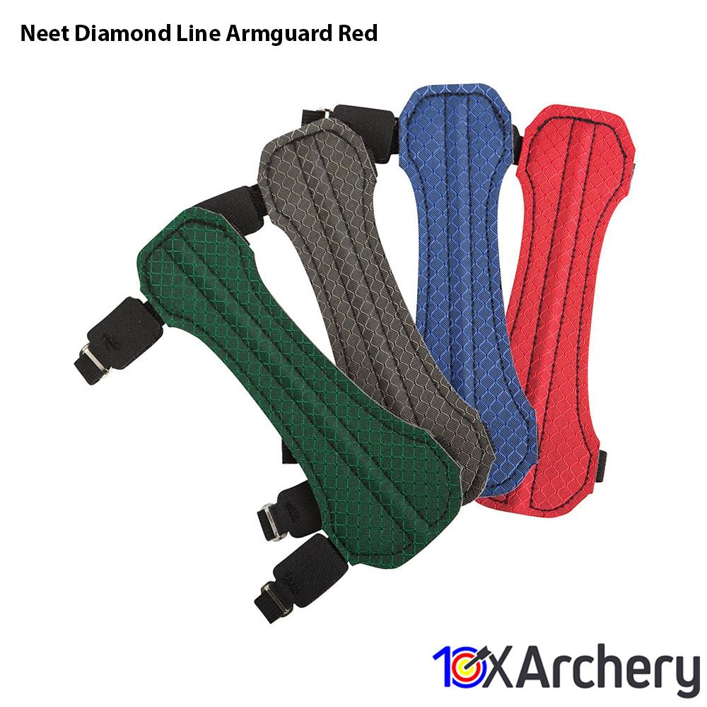 Neet Diamond Line Armguard Red - Archery