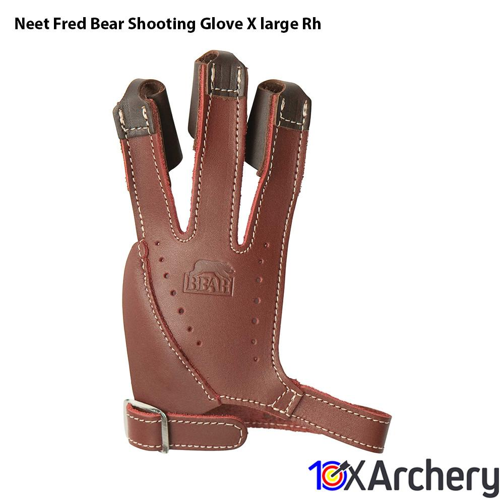 Neet Fred Bear Shooting Glove X-large Rh - 10xArchery
