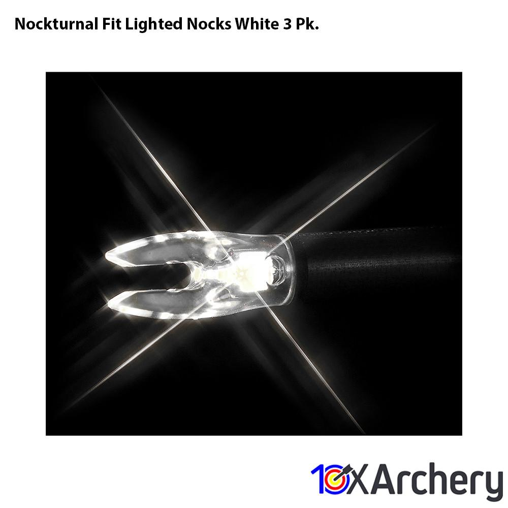 Nockturnal Fit Lighted Nocks White 3 Pk. - Archery