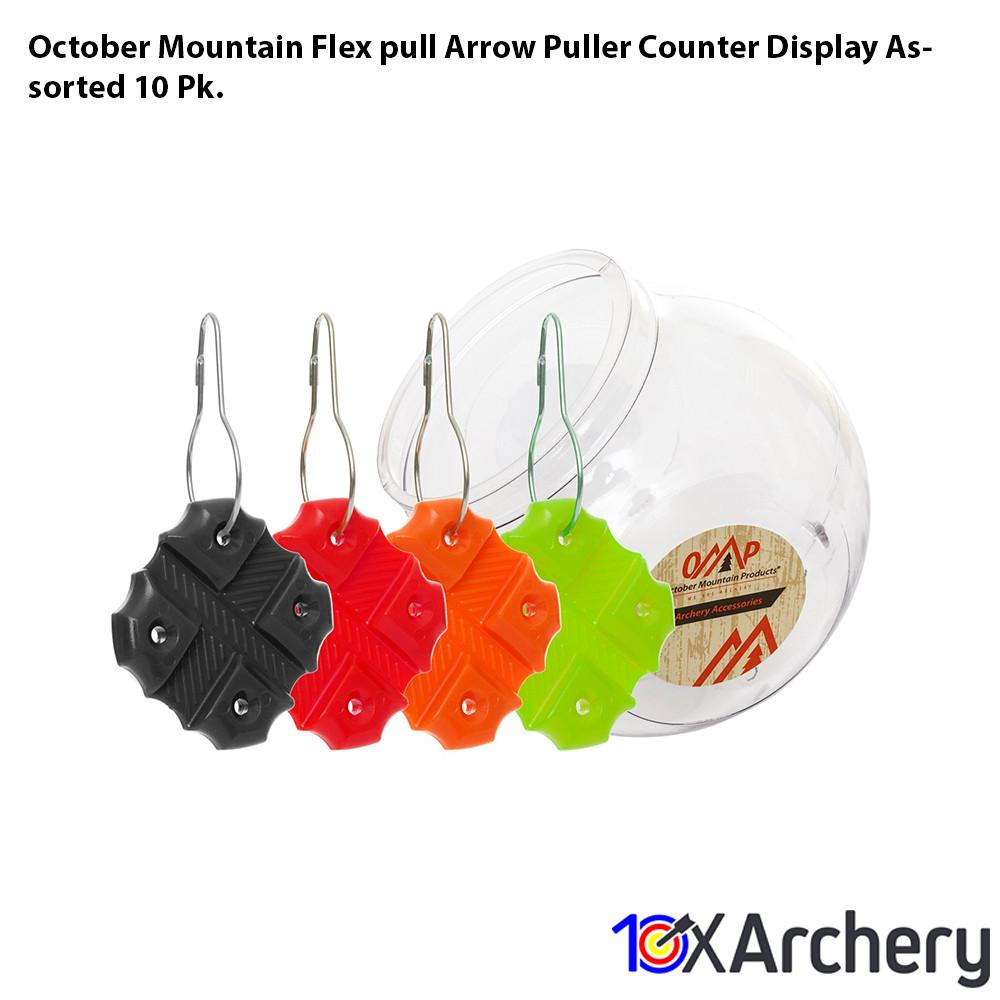 October Mountain Flex-pull Arrow Puller Counter Display Assorted 10 Pk. Archery October Mountain