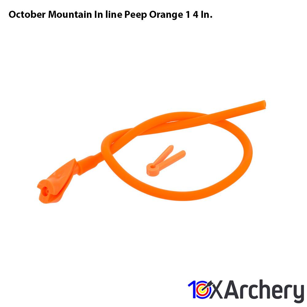 October Mountain In-line Peep Orange 1/4 In. - 10xArchery