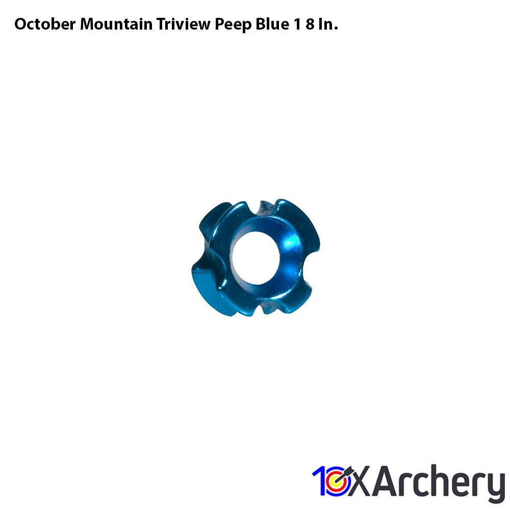 October Mountain Triview Peep Blue 1/8 In. - 10xArchery