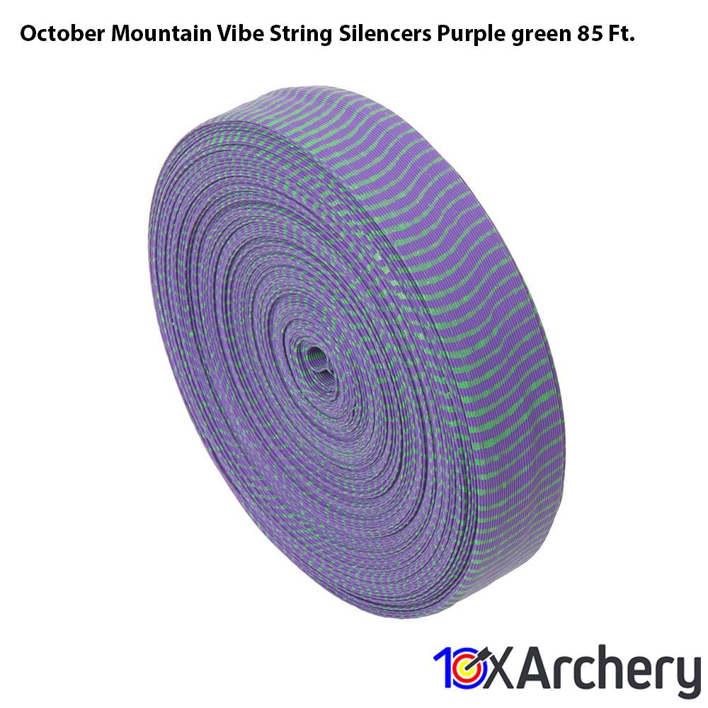 October Mountain Vibe String Silencers Purple/green 85 Ft. - 10xArchery