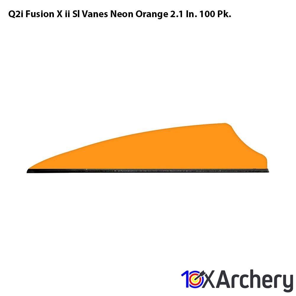 Q2i Fusion X-ii Sl Vanes Neon Orange 2.1 In. 100 Pk. - Archery