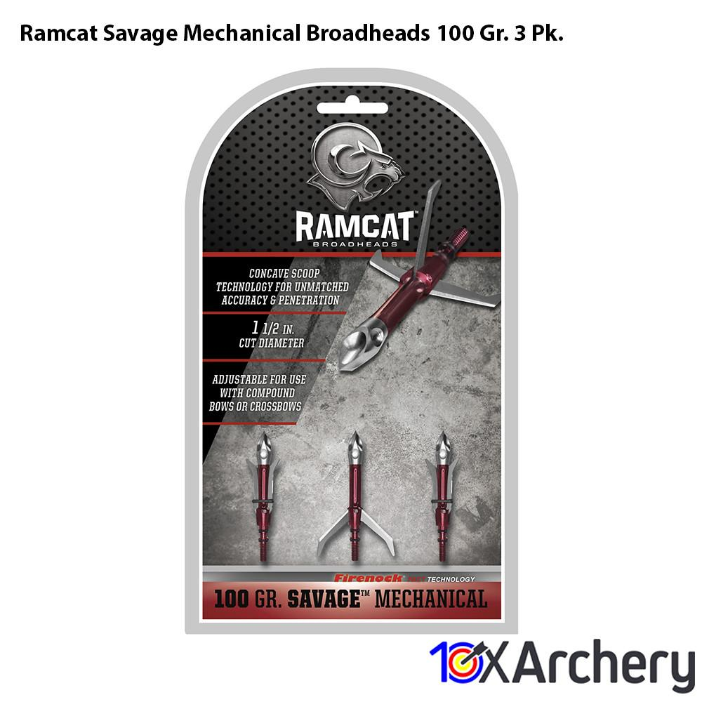 Ramcat Savage Mechanical Broadheads 100 Gr. 3 Pk. - Archery
