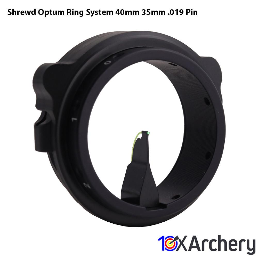 Shrewd Optum Ring System 40mm/35mm .019 Pin - Archery