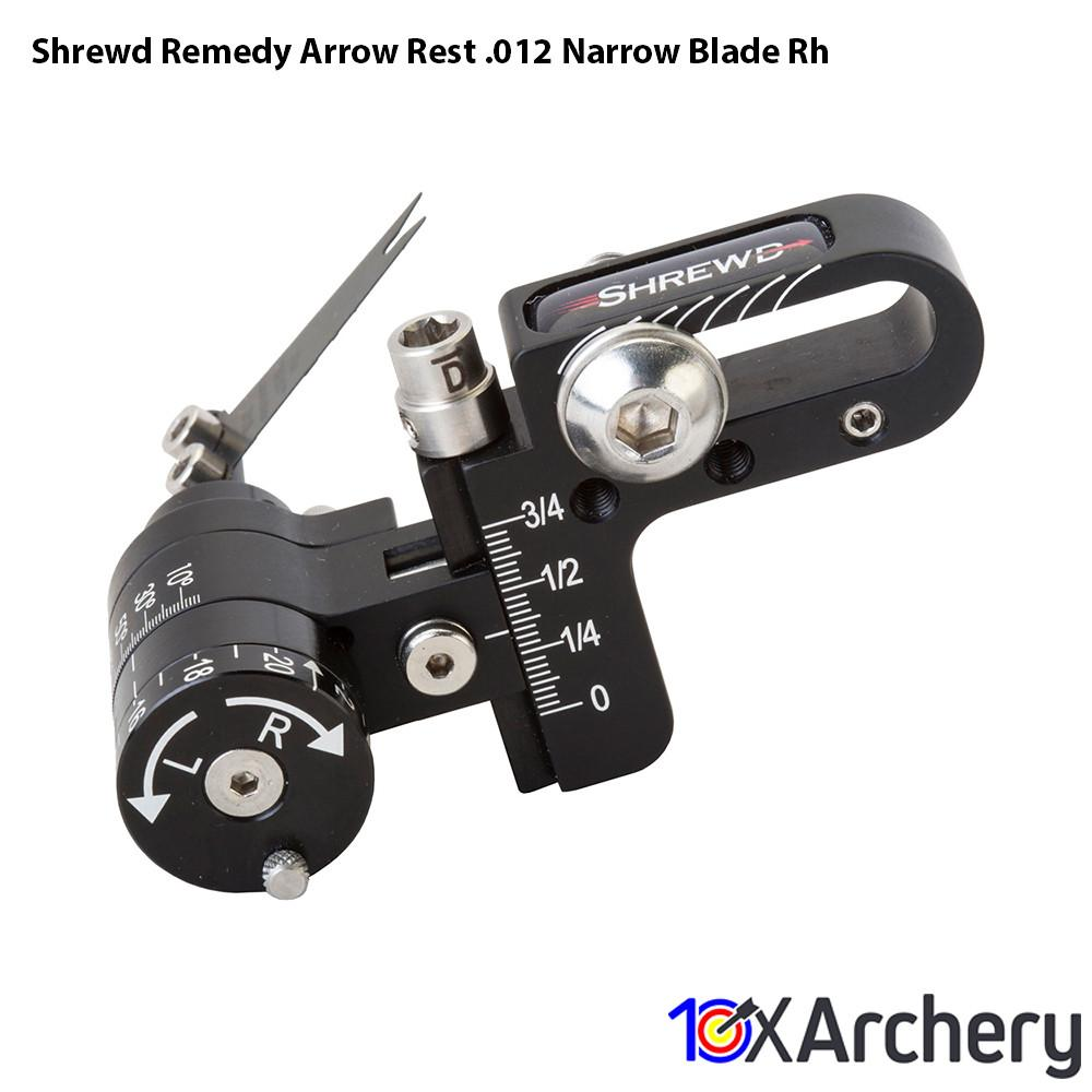Shrewd Remedy Arrow Rest .012 Narrow Blade Rh - Archery