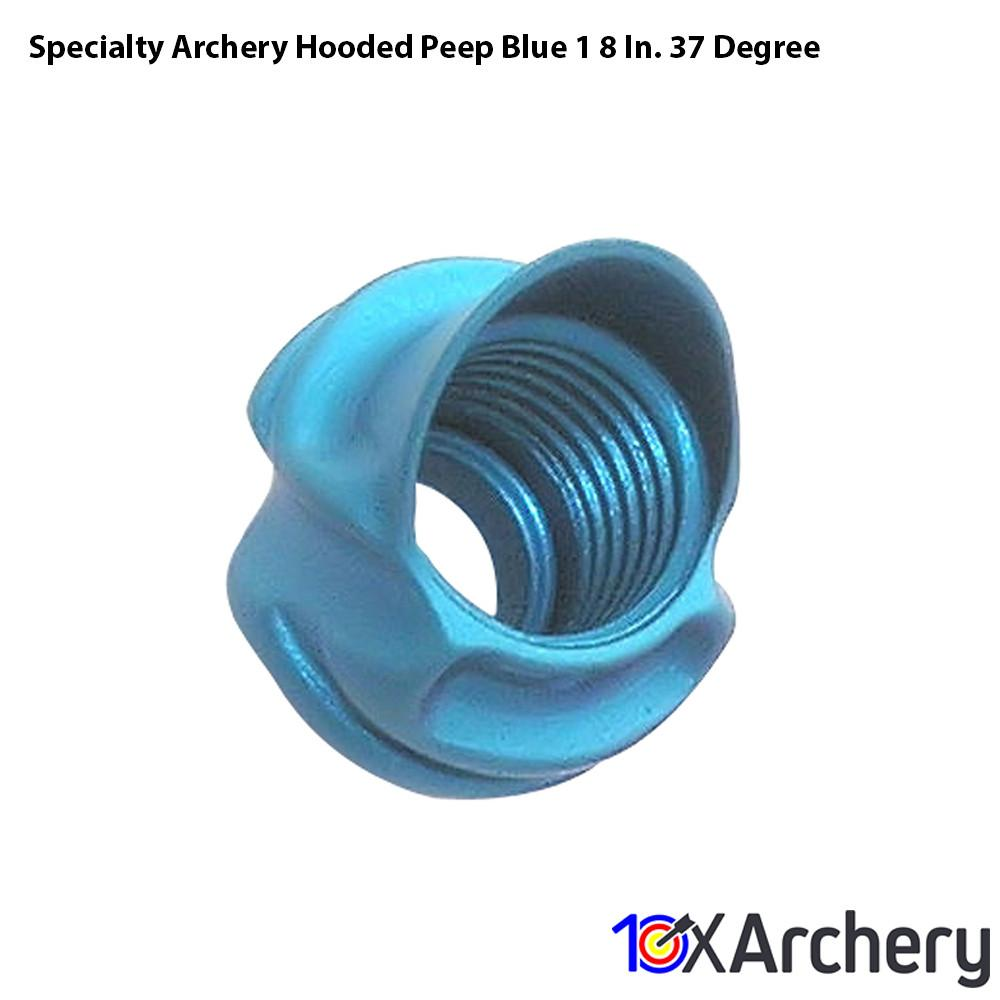 Specialty Archery Hooded Peep Blue 1/8 In. 37 Degree Peep Sights and Accessories Specialty Archery
